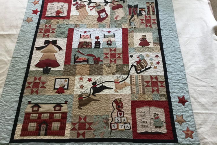 Twin Christmas Quilts