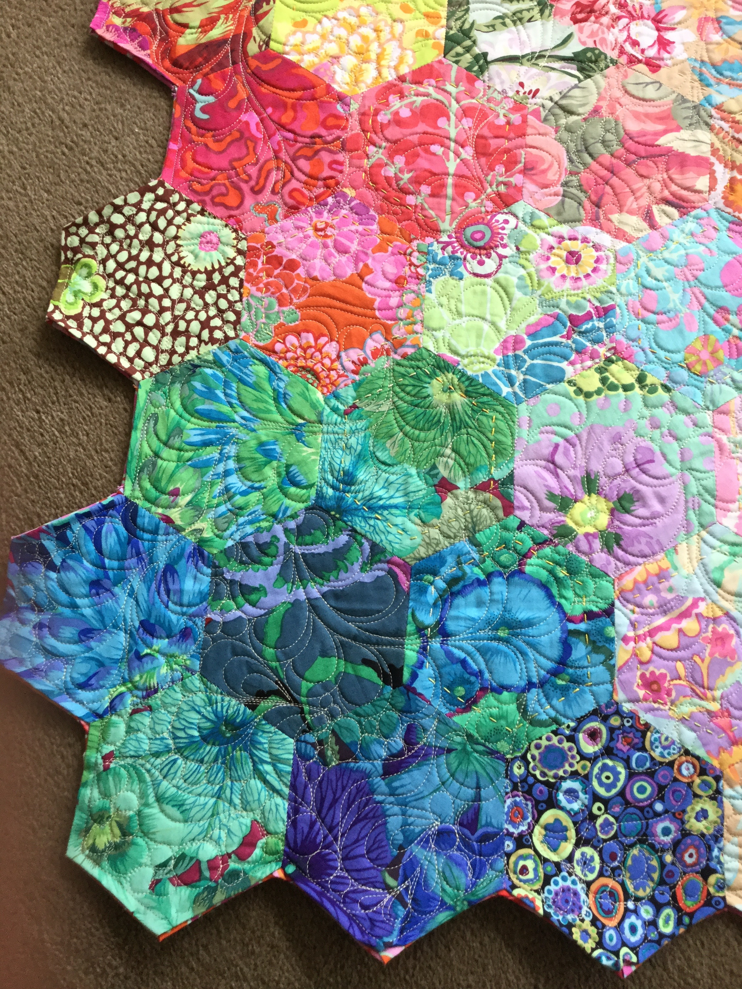 Epp Kaffe Fassett Hexagons Free Bird Quilting Designs