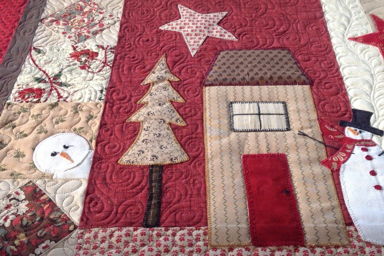Alvena's Applique Christmas Quilt