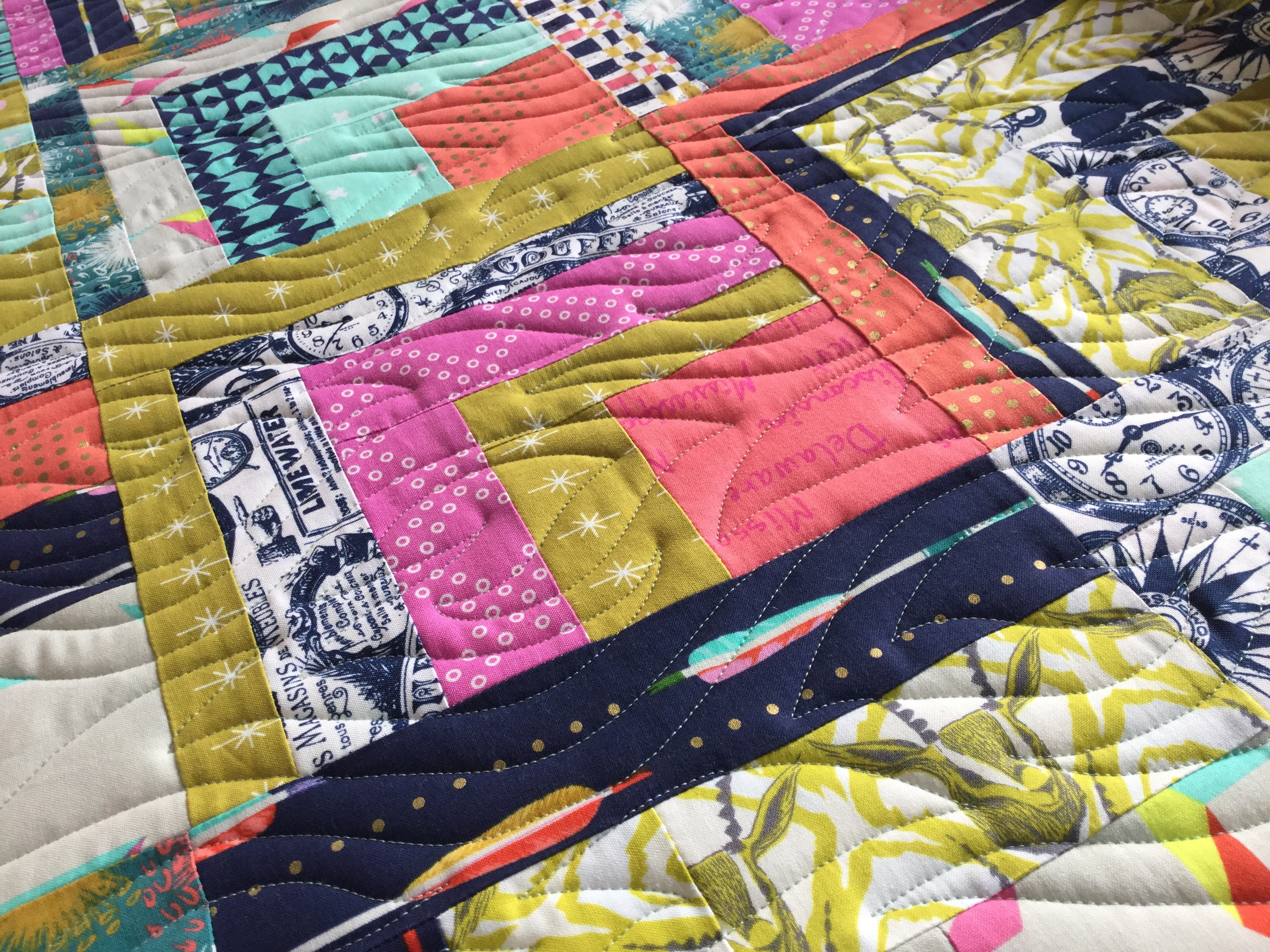 Modern Quilt Kindling On Cotton And Steel Free Bird