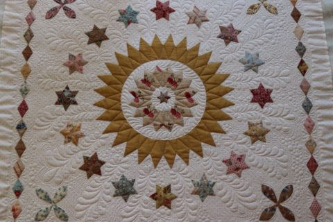 Reproduction fabric star quilt