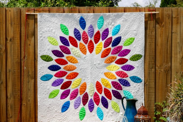 Solid Colour 'Seed Burst' Quilt